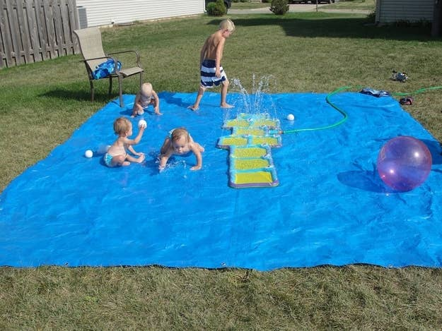 14 But Actually This DIY Splash Pad Made From A Tarp Is Even Cheaper