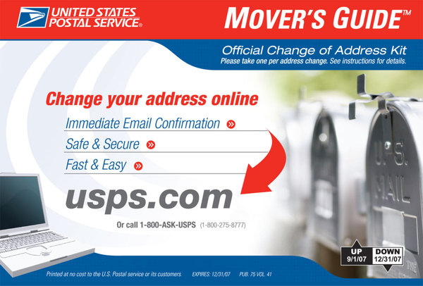 the changes in postal service caused by e mail 1stopmovecom, change of address & postal service, is a private business entity that facilitates the address change (postal service) request process for its users 1stopmove is an independently owned complete change of address site and operated by 1stopmovecom, inc and is not affiliated with the united states postal service (usps, or us.