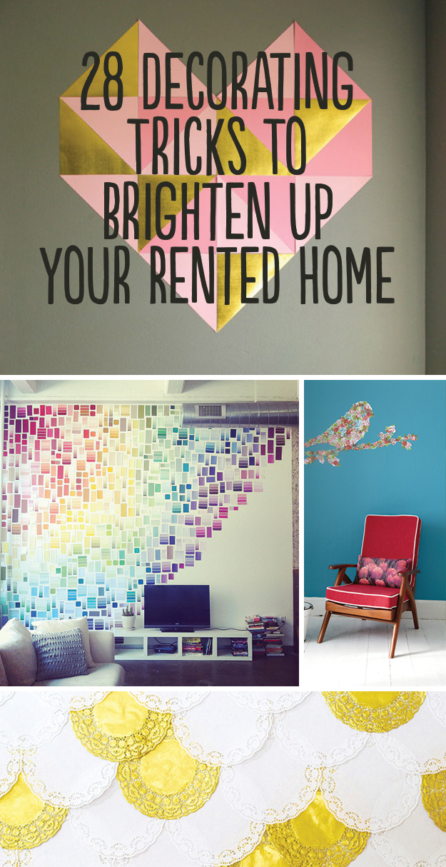 28 decorating tricks to brighten up your rented home How to decorate ur house