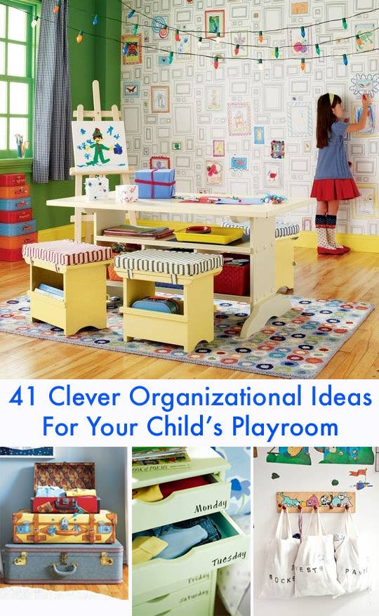 41 Clever Organizational Ideas For Your Child\'s Playroom