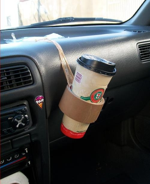 Duct Tape Drink Holder