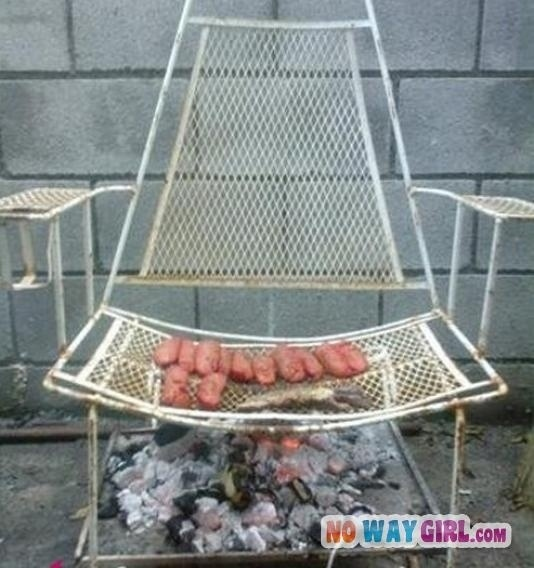 Patio Chair BBQ Grill