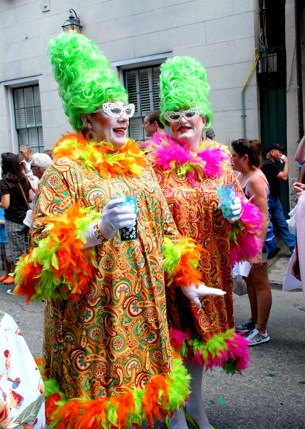 """This 40+ years-strong is the largest gay event in New Orleans, rooted in the celebrations reminiscent of Mardi Gras. The celebration has been held Labor Day weekend since it started in 1972, to provide proper """"recovery time"""" for those who attended, dressed as their favorite Southern icons for an impromptu parade."""