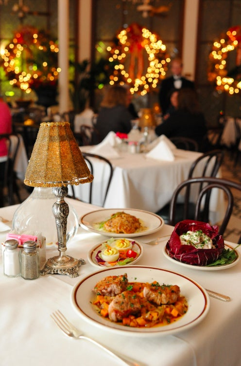 """An old Creole tradition, this traditional meal started being served after Midnight Mass on Christmas Eve to """"awaken"""" the holiday spirit. The tradition came back to New Orleans in force in the 1990s, and restaurants city-wide serve special and traditional multi-course meals at major prix-fixe discounts to keep that spirit alive."""