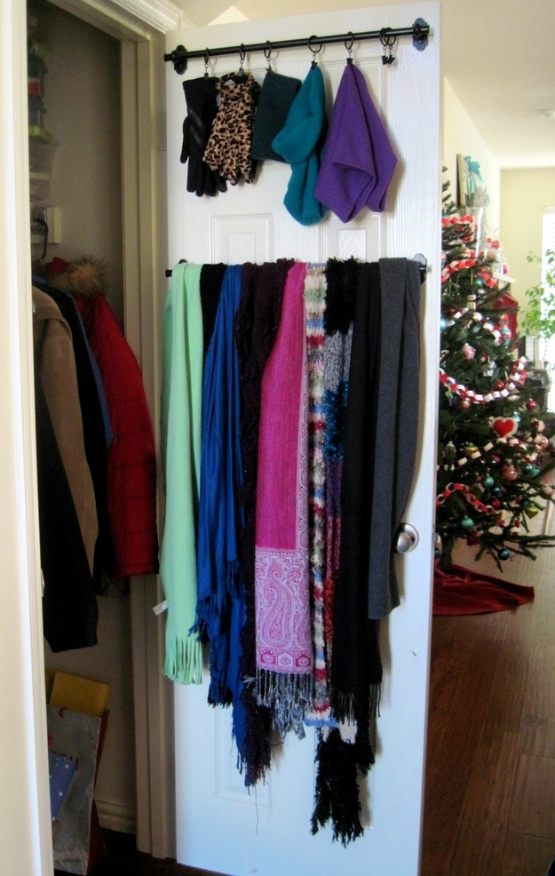 Make A (little) Bit Of Extra Rod Space By Hanging Scarves Etc. On The  Inside Of The Doors.