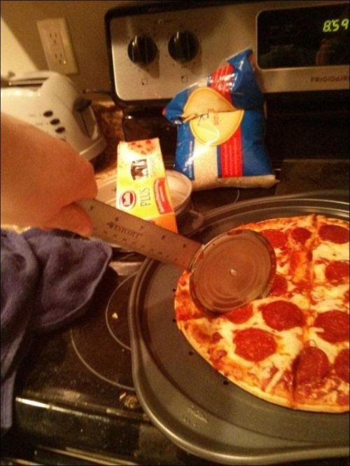 Ruler/Can Lid Pizza Cutter