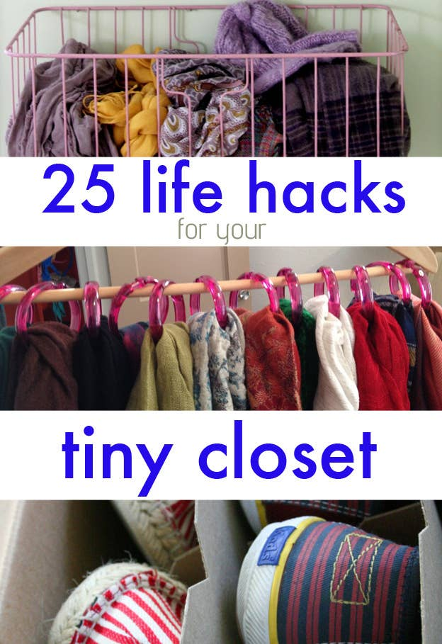 Share On facebook Share. 25 Brilliant Lifehacks For Your Tiny Closet