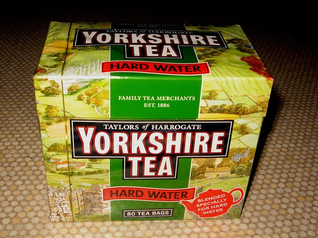 I once went into a Bournemouth ASDA and found Yorkshire Tea in the World Foods aisle.