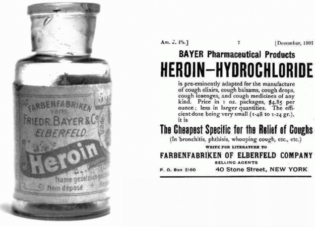 Cough medicine made out of heroin.
