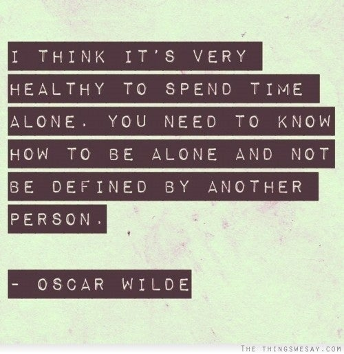 While author Oscar Wilde is famous for writing many quotable things, this is not one of them. This quote can actually be attributed to unrelated actress Olivia Wilde (!!!), who said it in a 2012 interview with Marie Claire, while discussing her recent divorce.