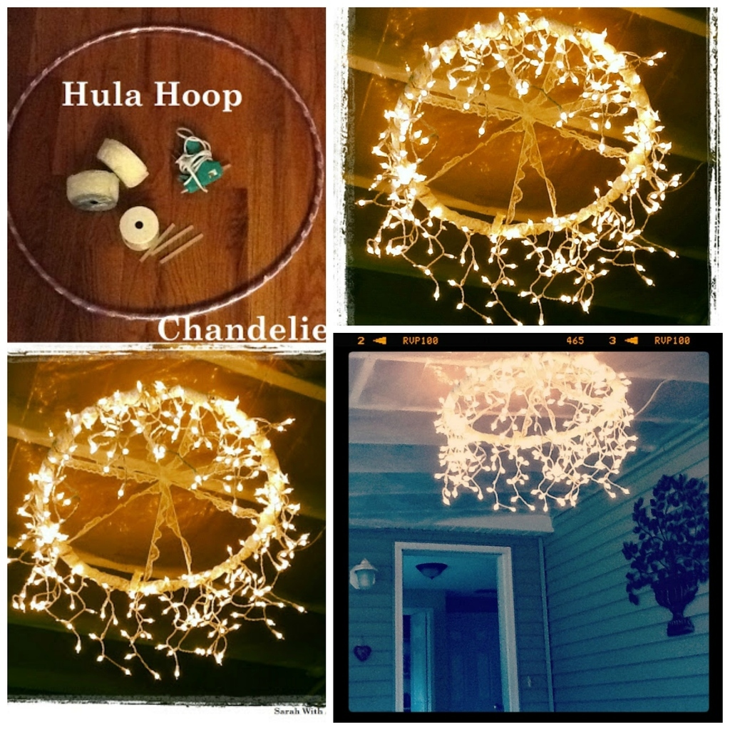 Wrap Lace Or Another Decorative Ribbon Around A Hula Hoop, Then Wrap In  Icicle Lights