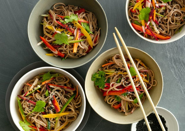 Make lots of this super-simple sesame dressing and keep it around for instant noodle satisfaction. Recipe here.
