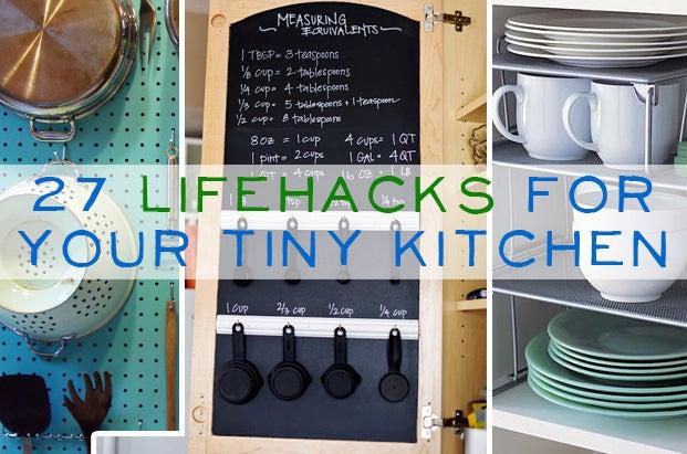 Tiny Kitchen 27 lifehacks for your tiny kitchen