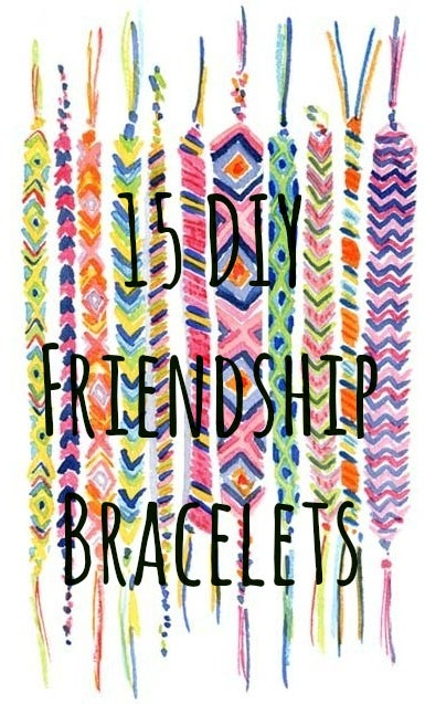 15 Summer Camp Style Friendship Bracelets You Can Make Right Now