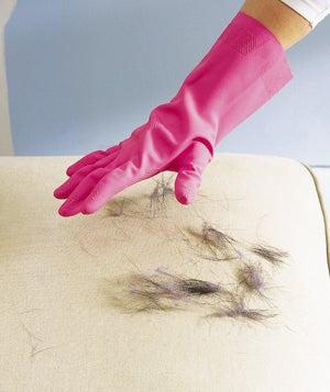 O latex/borracha atrairá os pelos.