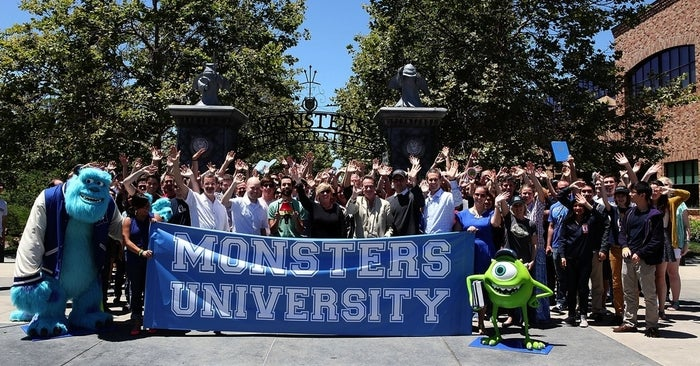 The Monsters University team on the Pixar Animations Studios campus in Emeryville, Calif., on June 21, 2013.