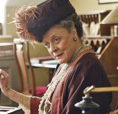 As the Dowager Countess of Grantham on Downton Abbey