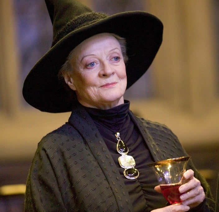 As professor Minerva McGonagall in Harry Potter