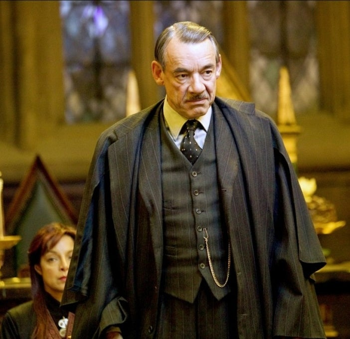 As Barty Crouch in Harry Potter and the Goblet of Fire