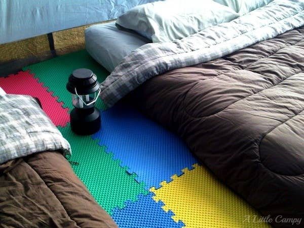 1 Use Foam Floor Tiles For A Softer More Comfortable Tent