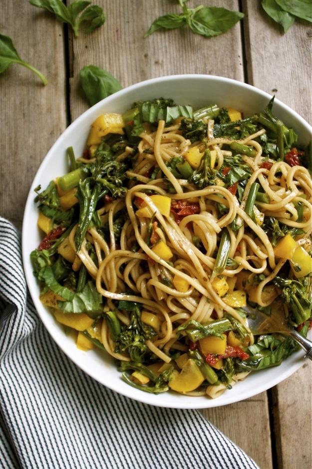 Soba Noodle and Vegetable Salad with Soy Balsamic Vinaigrette