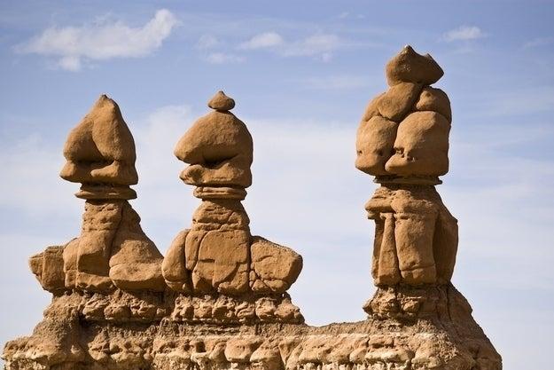 Sandstone hoodoos…or giant alien dongs???