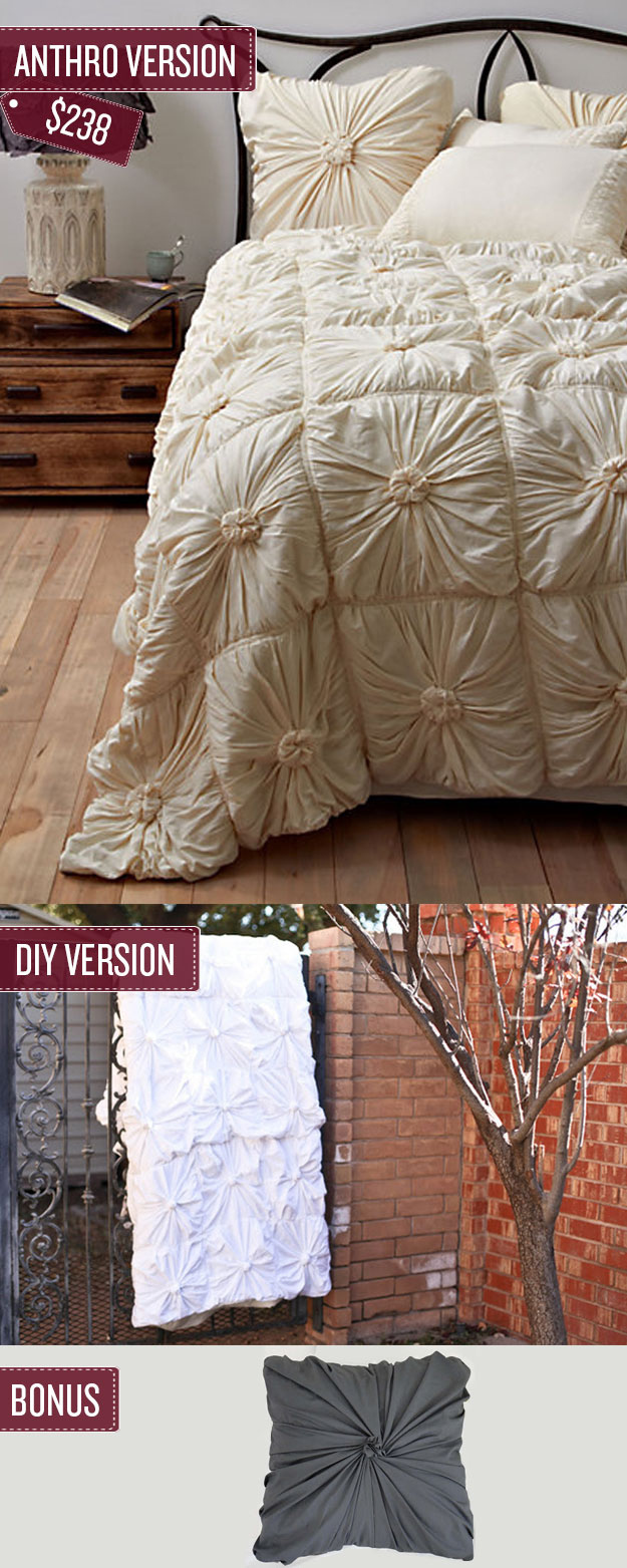 Sew a quilted bedspread.