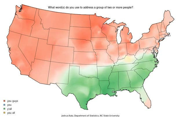 Who Says Yall And 10 Other Maps Showing Where Americans Say