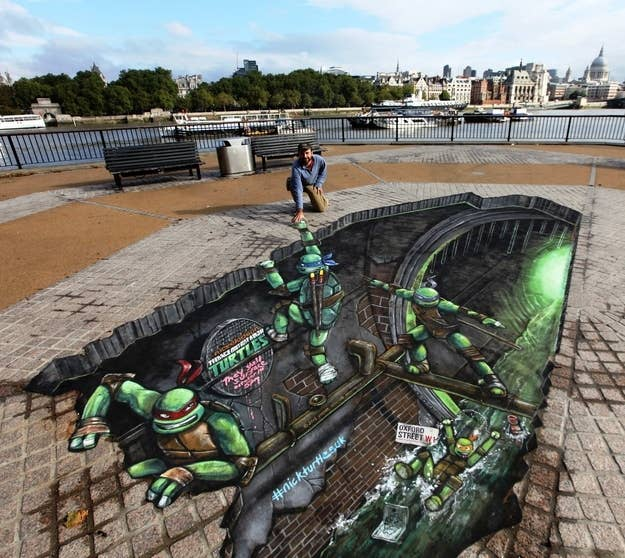 BrainMelting Works Of D Sidewalk Chalk Art - 17 amazing works of 3d street art