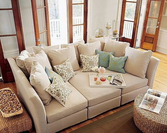 Three Piece Sectional By Pottery Barn.