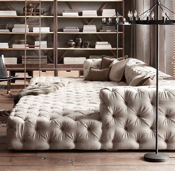 Deep Tufted Sofa Hotornotlive