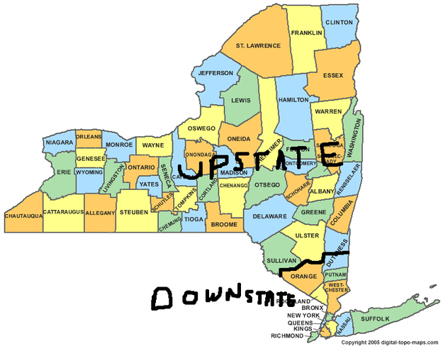 arguing about what actually is upstate with other natives