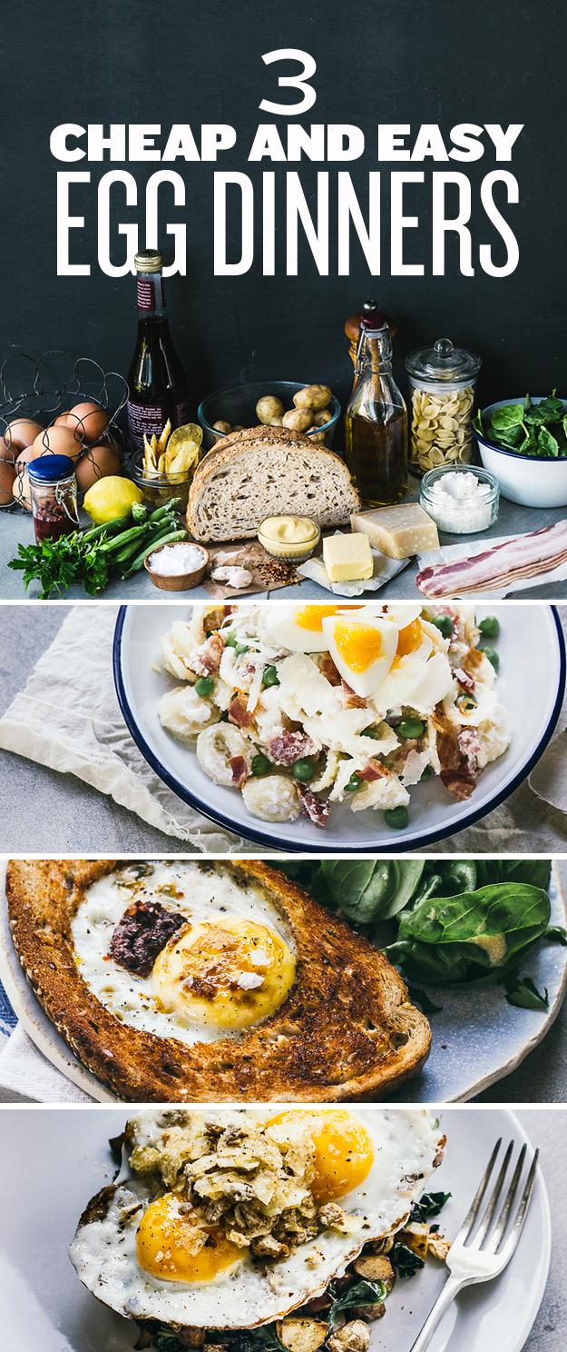 3 Cheap & Easy Egg Dinners