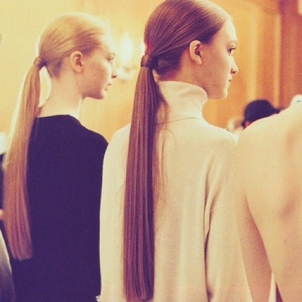 When you tie your hair too tight (and often), it strains the follicles and prevents hair growth. Try not to frequently tie your ponytail in the same spot.