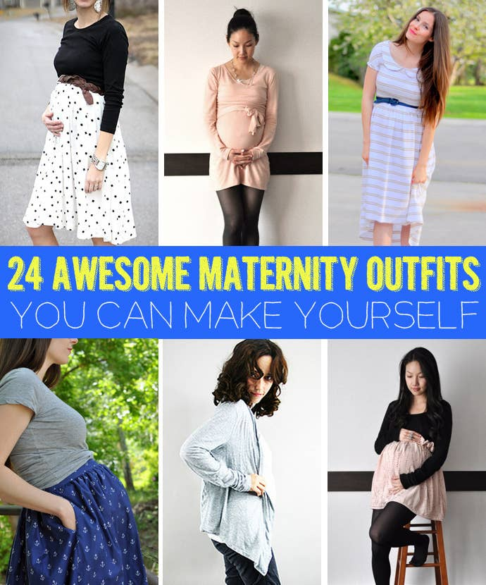 195ec5405332b 24 Awesome Maternity Outfits You Can Make Yourself
