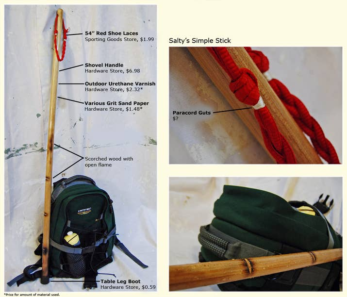 Walking sticks help with stability and balance and are especially good for your knees and back on a long hike.