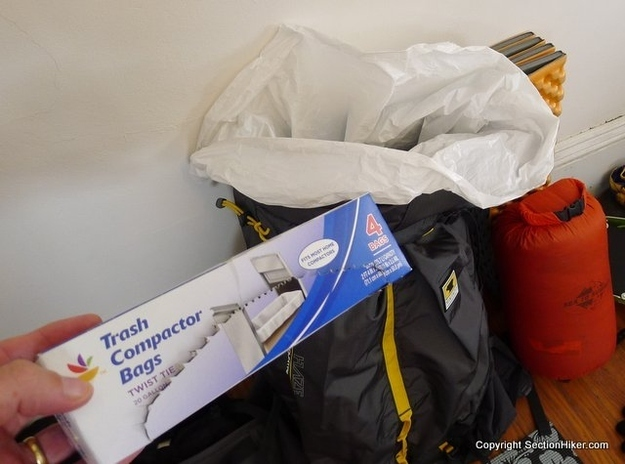 Line your backpack with a garbage bag for extra rain protection.