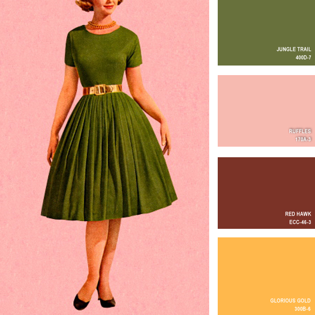 16 Best Images About Colors On Pinterest: 16 Beautiful Color Palettes Inspired By Retro Fashion