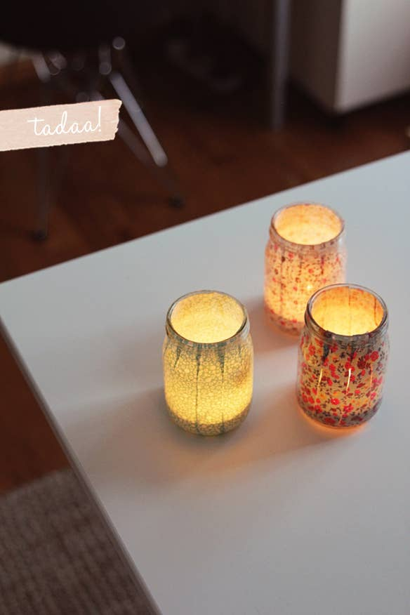 Since most college dorms ban traditional candles use electric tealights like these instead