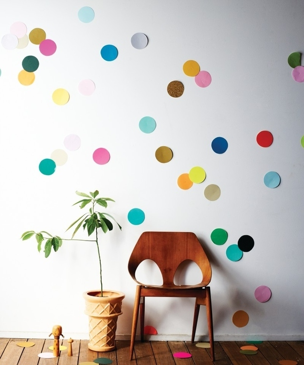 25. Make A Simple Confetti Mural. Part 30