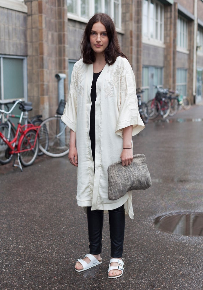 Nothing to see here, it's just a KIMONO WITH BIRKENSTOCKS. * faints * * moves to Helsinki *