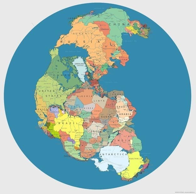 27 pictures that will change the way you look at the world 1 pangea with modern political borders gumiabroncs Image collections