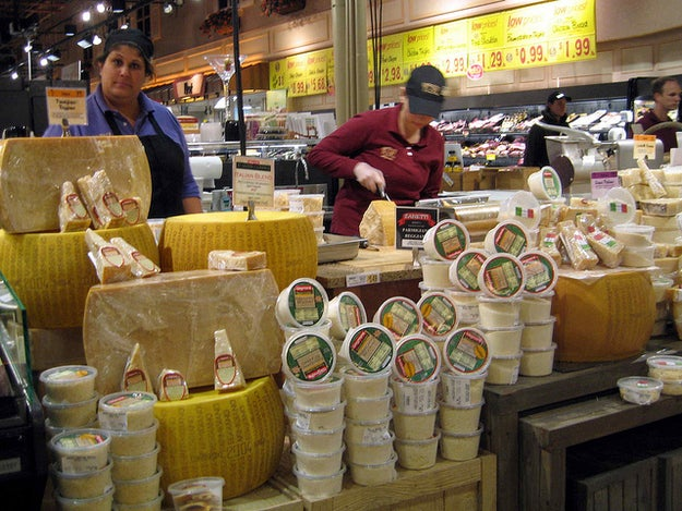 """According to their website, each store """"usually has 300 specialty cheeses on hand."""" And yes, they'll absolutely let you taste a large number of them."""