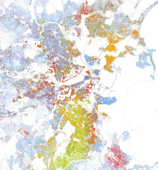 This Map Of Race In America Is Pretty Freaking Awesome - Us demographics map by race