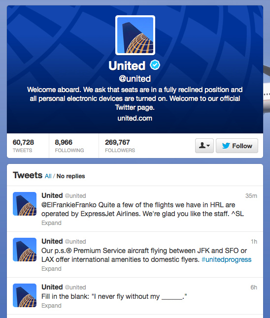 People Angrily Tweet At United Airlines Parody Account Thinking ...