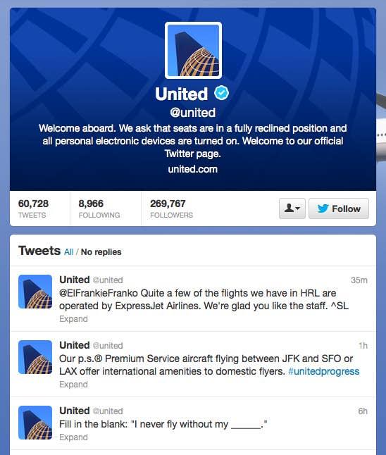 People Angrily Tweet At United Airlines Parody Account