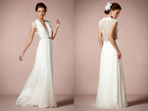 25 dazzling art deco wedding gowns bhldn ortensia gown3000 junglespirit Choice Image