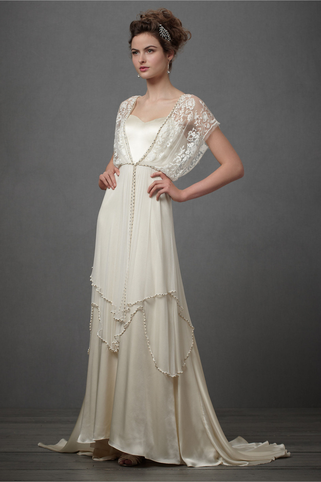 25 dazzling art deco wedding gowns for Art deco wedding dresses