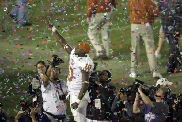 """Vince Young is one of the greatest college football players to ever play the game. To Longhorn fans, he is, and will forever be, a hero, and his performance in the 2006 BCS National Championship game is legendary. But VY was a hero even before that game. In fact, his high school accomplishments were somewhat of folklore.Everyone had to see the 6""""5 dual-threat quarterback in Houston who could throw 60 yards off his back foot and run past any defender on the field. And when he did it again against USC in the Rose Bowl, his legend was complete: Vince Young had been blessed by the football Gods."""