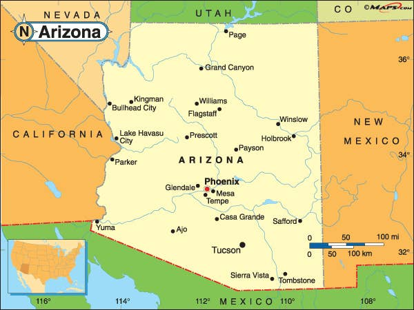 Reasons Why Arizona Is The Best State - City map of arizona
